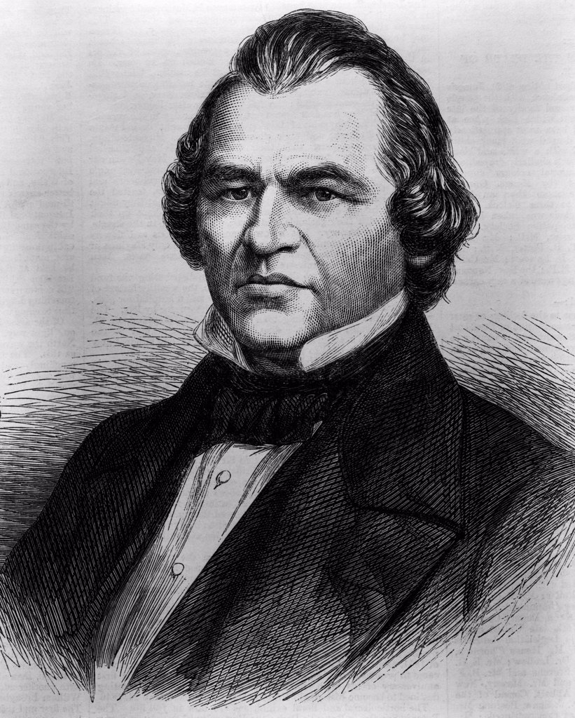 Stock Photo: 4186-17216 Portrait Andrew Johnson 1808 - 1875 17Th American President After Lincoln Assassination Impeached And Acquitted