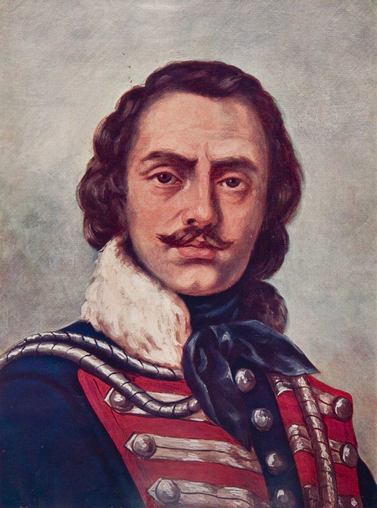 Stock Photo: 4186-17314 1700S 1776 Portrait Of General Casimir Pulaski Polish Military Cavalry Commander In American Continental Army