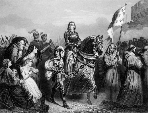 Entry Of Joan Of Arc Into Orleans 1429 French Saint Woman Military Leader Heroine Catholic Maid Of Orleans Jeanne D'Arc : Stock Photo