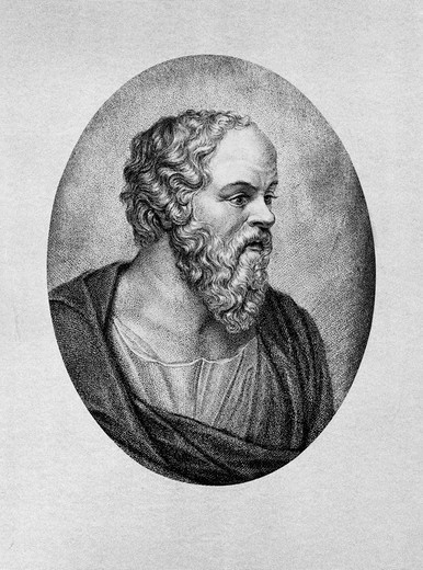 Greek Philosopher Socrates Profile Beard Socratic Method Question And Answer Philosophy : Stock Photo