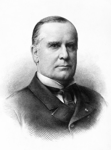 Stock Photo: 4186-17517 1890S 1900S Portrait Of William Mckinley 25Th President Of The Unted States Killed By Assassin'S Bullet 1901