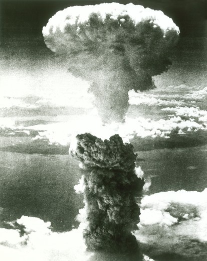 Stock Photo: 4186-3098 1950S Atomic Bomb Explosion Mushroom Cloud