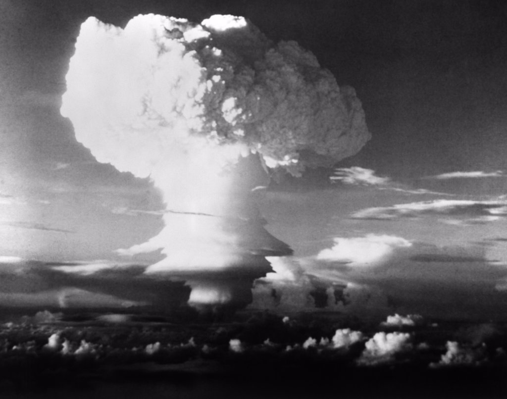 Mushroom Cloud From Atomic Bomb Set Off In South Pacific During Operation Ivy : Stock Photo