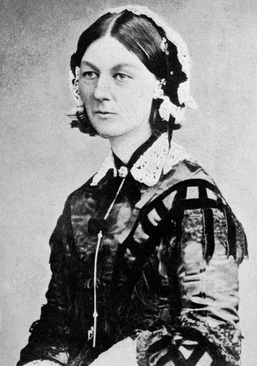 Stock Photo: 4186-3369 Portrait Of Florence Nightingale English Nurse In The Crimean War Founder Of Modern Nursing 1820-1910 Crimea Healer Medical