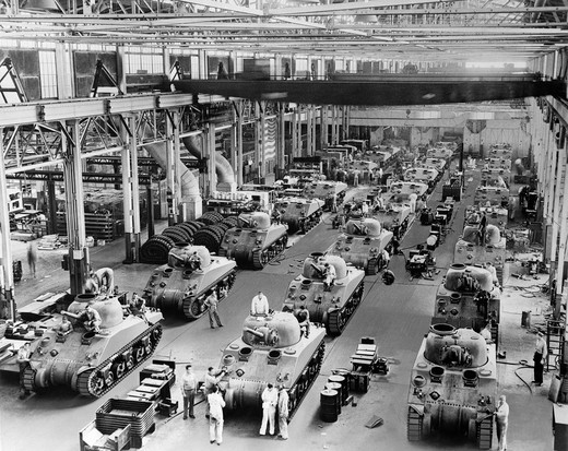1940s General Sherman Tanks In Production Chrysler