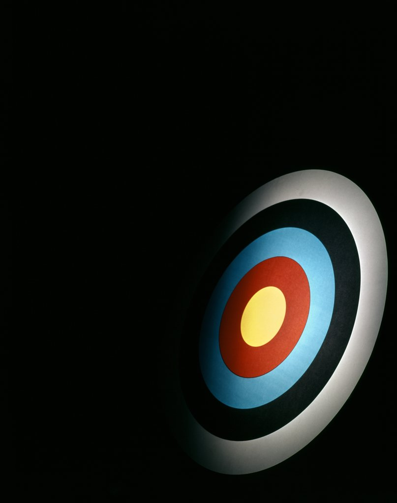 Stock Photo: 4186-4396 Target Archery Bulls Eye Dartboard