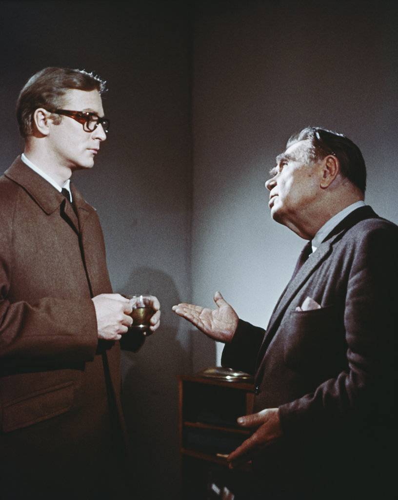 Stock Photo: 4186-698 1960S 1967 Film Of Len Deighton'S Novel Funeral In Berlin Starring Michael Caine As Harry Palmer With  Oscar Homolka