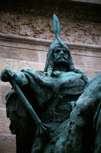 Statue of Arpad, Magyar Chief : Stock Photo