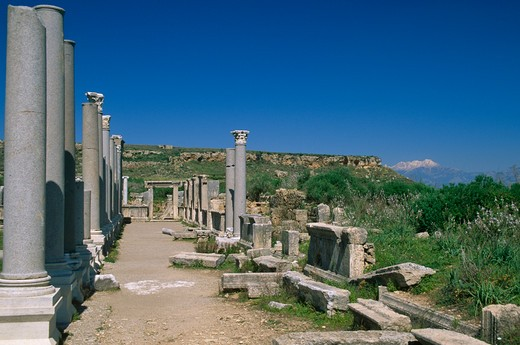 Perge, Perge, Turkey : Stock Photo