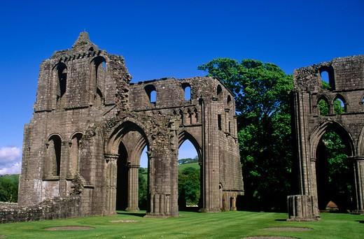 Stock Photo: 4192-10463 Dunrennan Abbey, Dumfries, Scotland