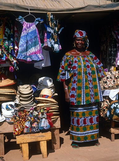 Market Stall, Gambia : Stock Photo