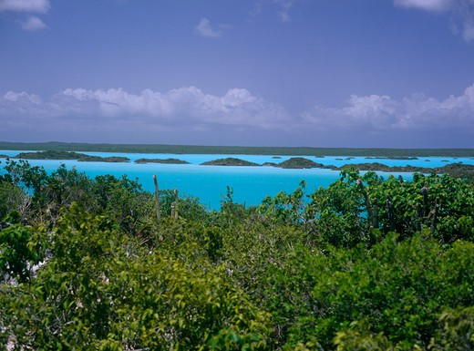 Stock Photo: 4192-1213 Chalk Sound, Providenciales, Turks & Caicos
