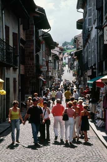 St. Jean Pied De Port, Pays Basque, France : Stock Photo