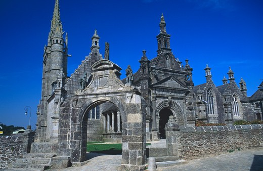 Guimiliau, Brittany, France : Stock Photo