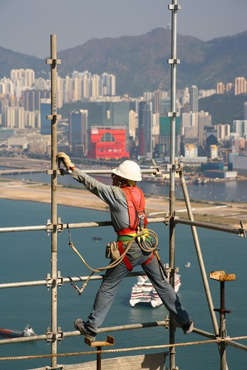Construction Site, Hong Kong Island, Hong Kong : Stock Photo