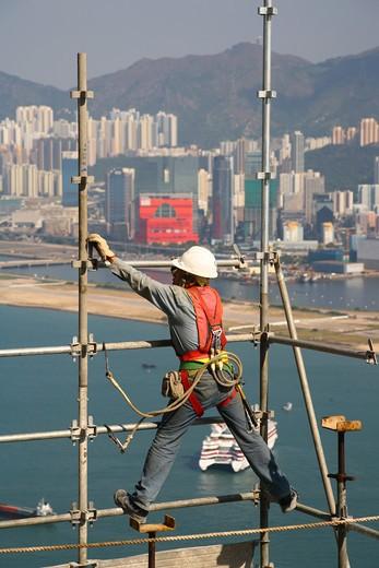 Stock Photo: 4192-401 Construction Site, Hong Kong Island, Hong Kong