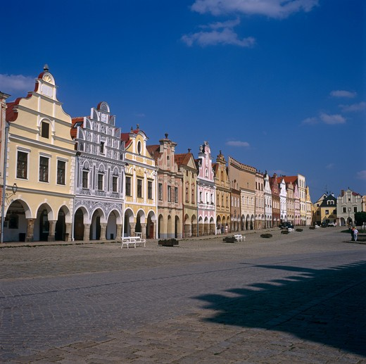 Telc, Moravia, Czech Republic : Stock Photo