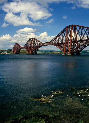 Stock Photo: 4192-4547 Forth Rail Bridge, Lothian, Scotland