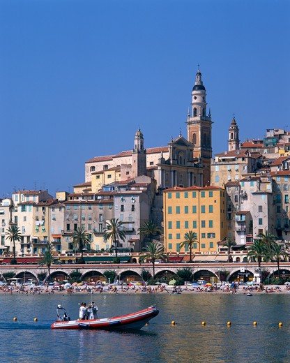 Stock Photo: 4192-5078 Menton, Cote D, France