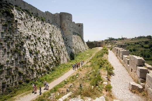 Krak De Chevaliers, Syria : Stock Photo