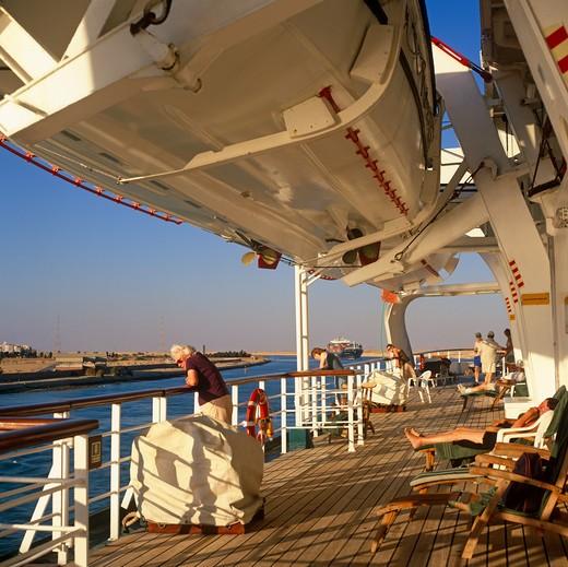 Stock Photo: 4192-6584 Suez Canal, Egypt