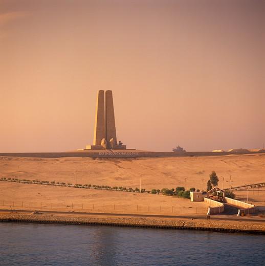 Suez Canal, Egypt : Stock Photo