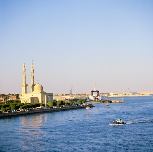 Suez Canal, Egypt : Stock Photo
