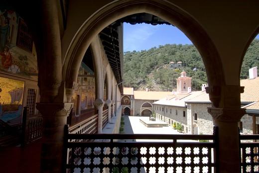Kykkos Monastery, Troodhos Mountains, Cyprus : Stock Photo