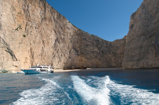 Stock Photo: 4192-7606 Navagio Bay, Zakynthos, Greece