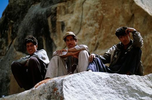 Porters, Pakistan : Stock Photo