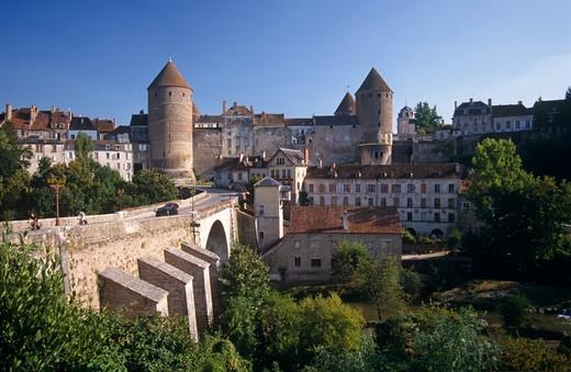 Semur En Auxois, Burgundy, France : Stock Photo