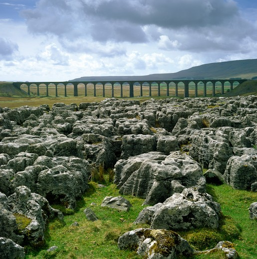 Stock Photo: 4192-9207 Ribblehead Viaduct, North Yorkshire, England