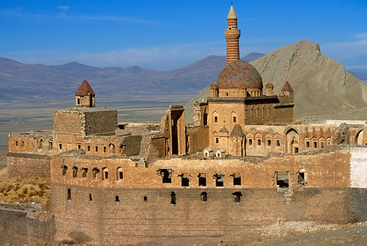Ishak Pasha Palace , Agri, Turkey : Stock Photo