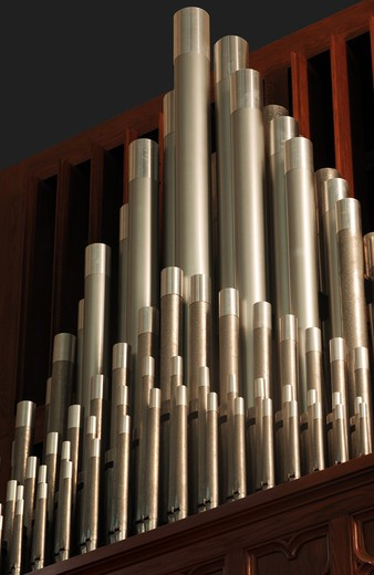 Stock Photo: 4193R-1226 pipe organ pipes