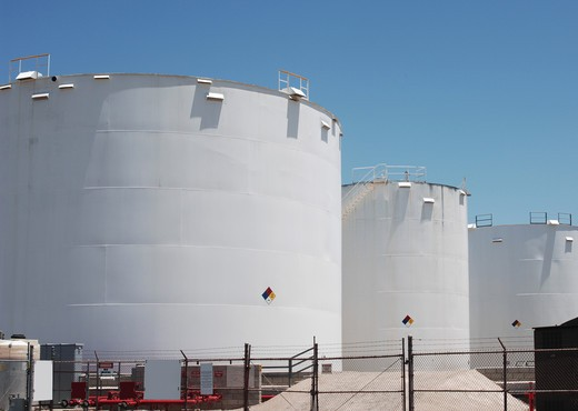 petroleum storage tanks : Stock Photo