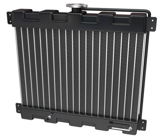 Stock Photo: 4193R-1370 Car Radiator on a white background with clipping path