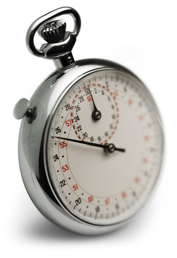 Stock Photo: 4193R-1589 stop watch, macro with selective focus on white