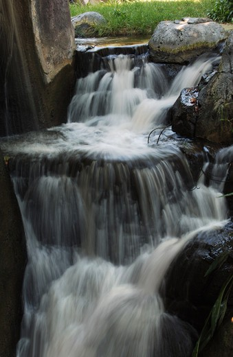 Stock Photo: 4193R-1817 waterfall in vertical orientation