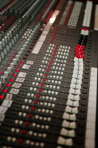 audio sound mixing board : Stock Photo