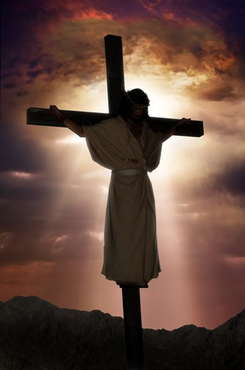 Stock Photo: 4193R-2062 Jesus on the cross