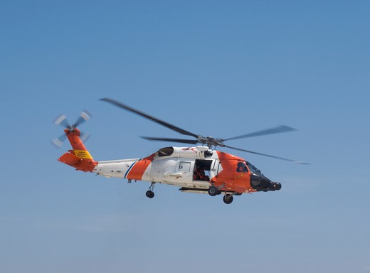 United States Coast Guard helicopter : Stock Photo