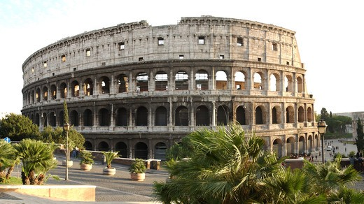 Roman colliseum in Italy : Stock Photo