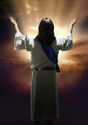Easter image of the resurrection of Christ : Stock Photo