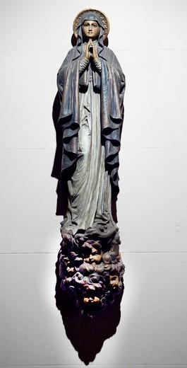 Stock Photo: 4194-144 USA, New York State, New York City, St Mary church interior, Statue depicting Mary