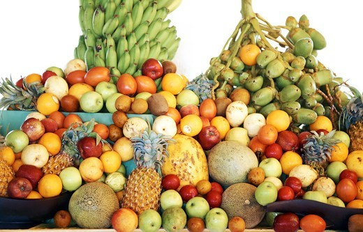 Stock Photo: 4197R-53649 Image of different fruits on a buffet table