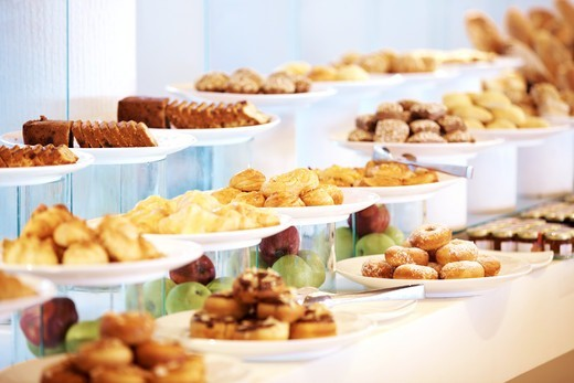 Banquet - Delicious dessert arranded on buffet table at restaurant : Stock Photo