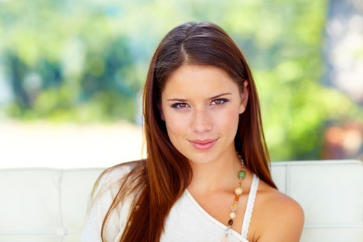 Stock Photo: 4197R-56403 Lovely young woman looking naturally beautiful
