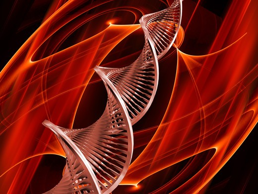 3D render of DNA on abstract background : Stock Photo