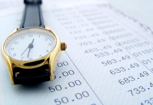 Stock Photo: 4198R-2482 Finance time