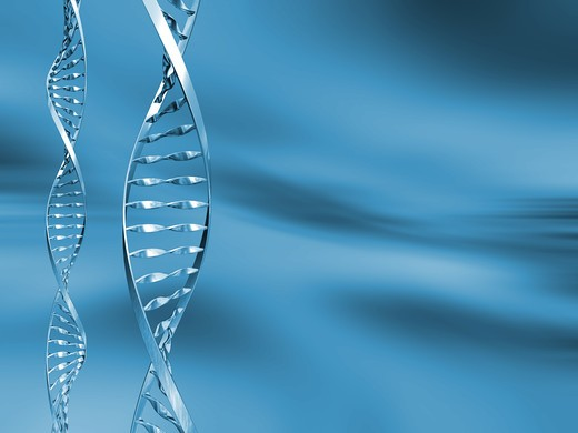 DNA strands on abstract background : Stock Photo